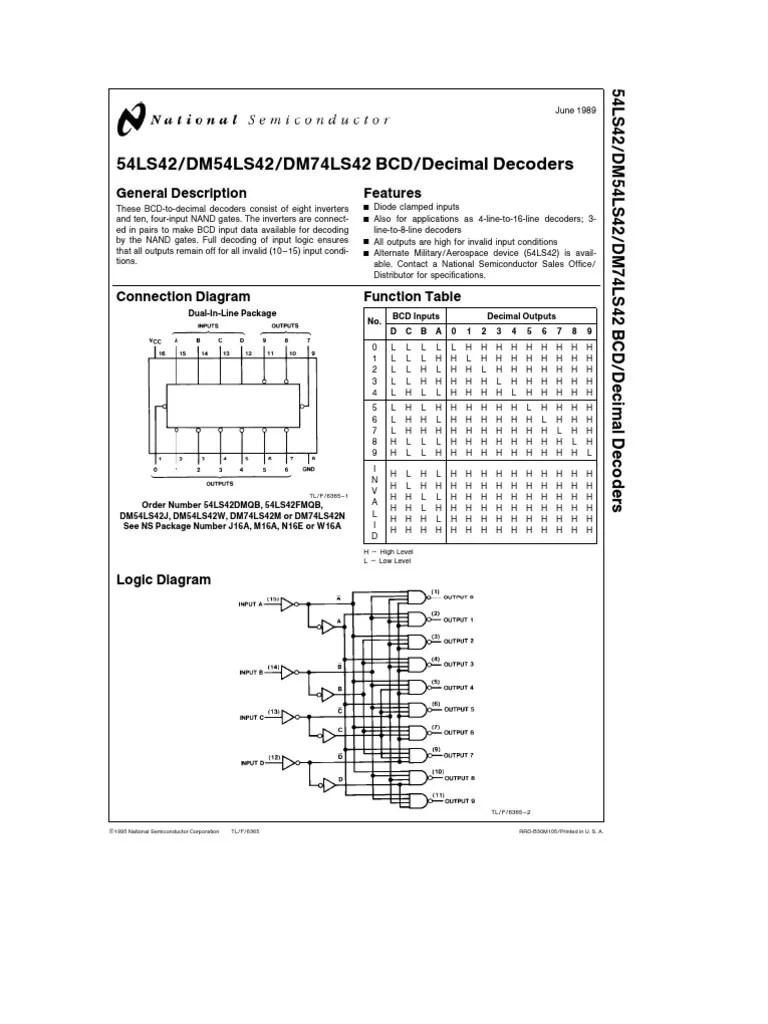 logic diagram of bcd to decimal decoder [ 768 x 1024 Pixel ]