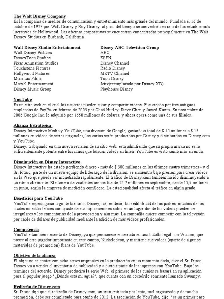 The Walt Disney Company Filiales : disney, company, filiales, Disney, Youtube, Compañía, Empresas, Entretenimiento, Estados, Unidos