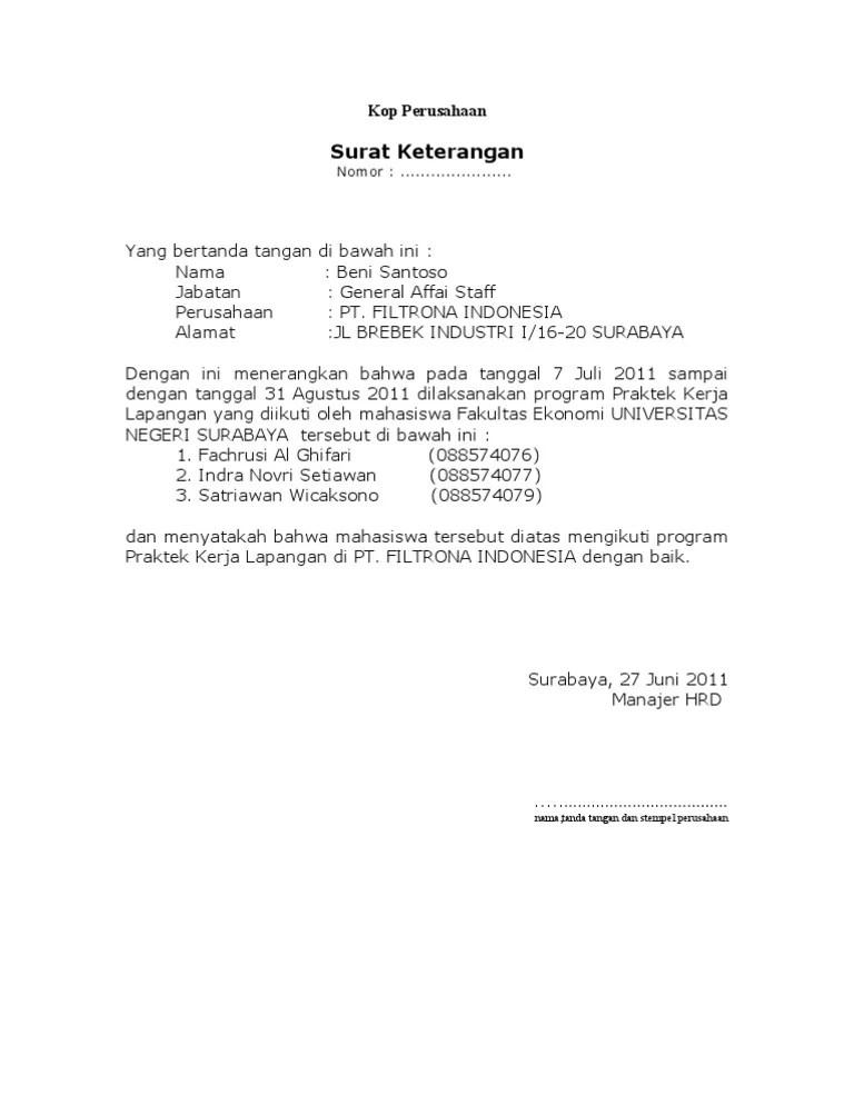 Surat Balasan Pkl Dari Perusahaan Doc : surat, balasan, perusahaan, Contoh, Surat, Balasan, Magang, Perusahaan, Edukasi.Lif.co.id