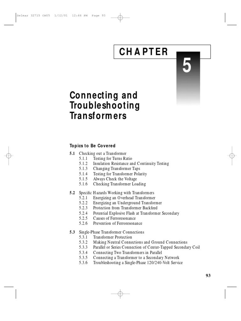 small resolution of troubleshooting transformers transformer series and parallel circuits