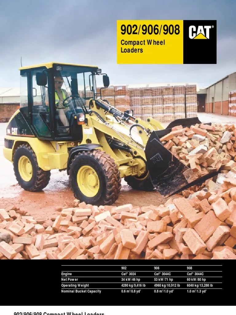 small resolution of 902 906 908 compact wheel loader loader equipment elevator cat wheel loader 908 908 cat loader wiring diagram