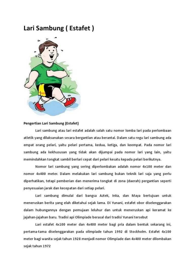 Jelaskan Cara Melakukan Perlombaan Lari Sambung : jelaskan, melakukan, perlombaan, sambung, Sambung