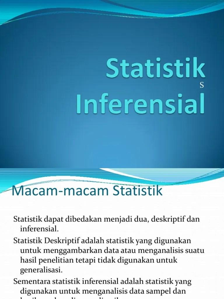Statistik Deskriptif Dan Inferensial : statistik, deskriptif, inferensial, Statistik, Inferensial