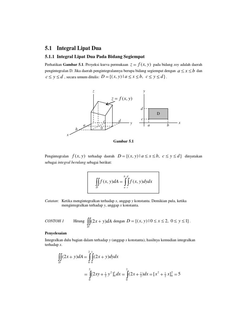 Contoh Soal Integral Lipat Dua : contoh, integral, lipat, Integral, Lipat, Penggunaannya