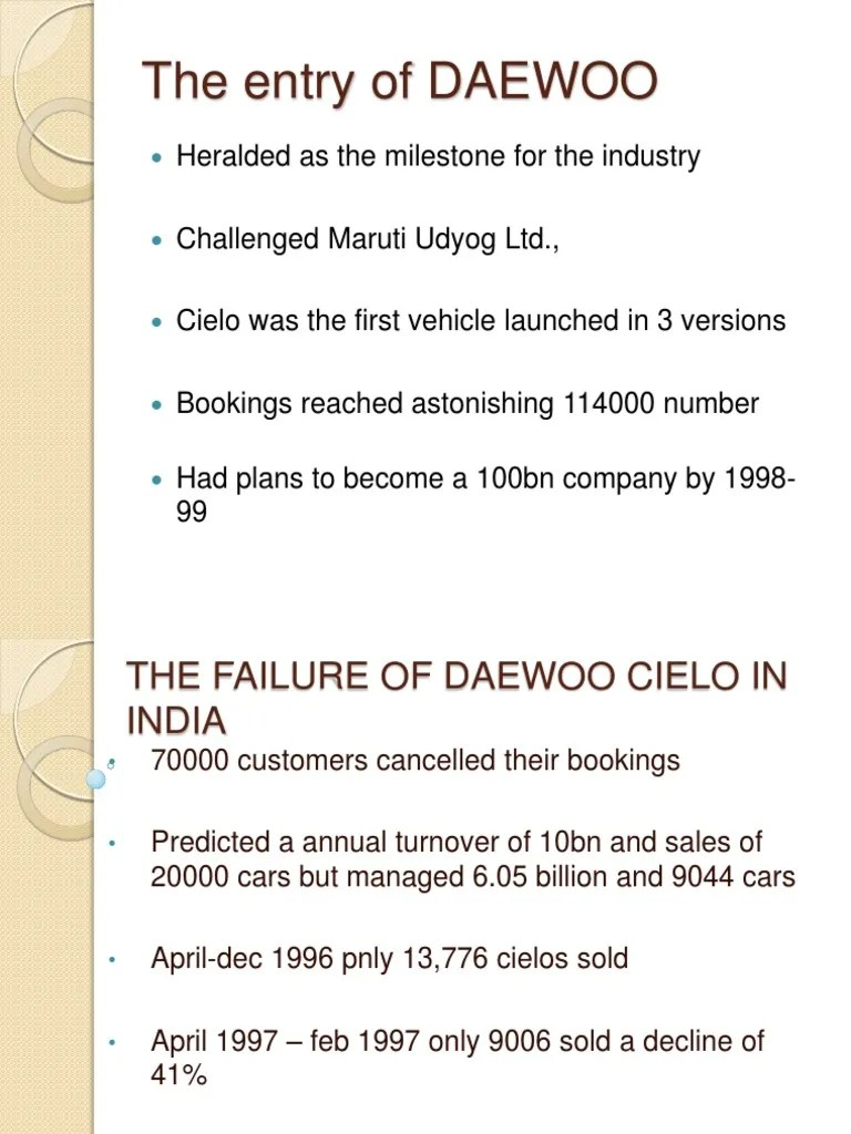 small resolution of the failure of daewoo cielo in india customer relationship management luxury vehicles