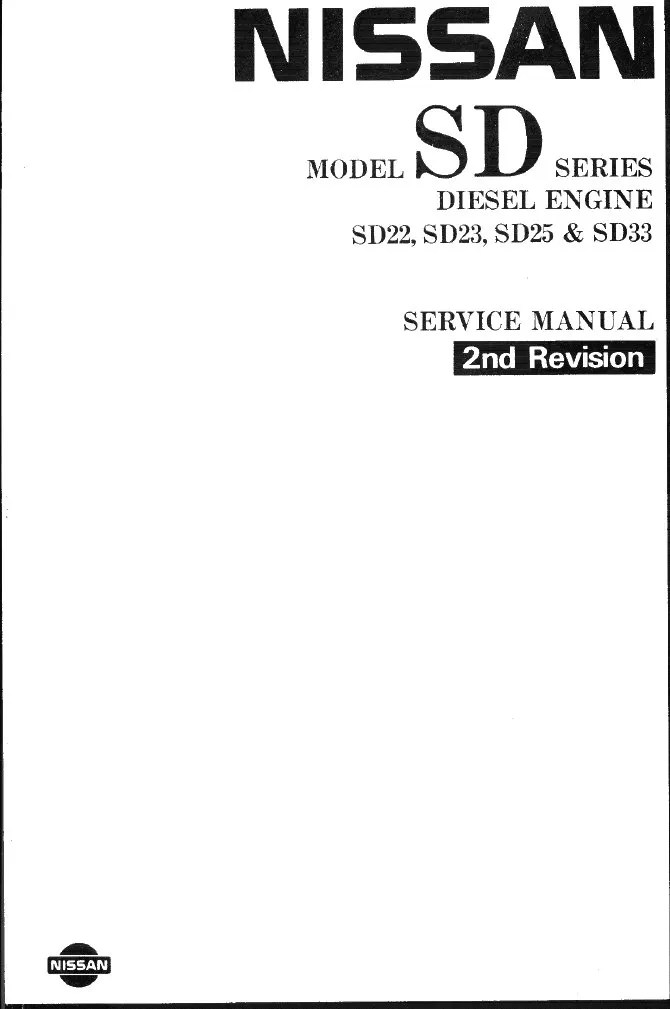 Nissan Diesel Engines SD22 SD23 SD25 SD33
