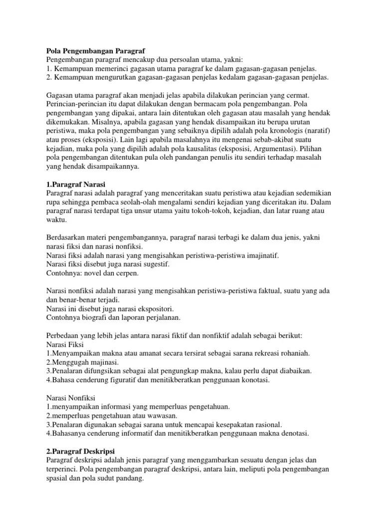 Pola Pengembangan Paragraf Eksposisi : pengembangan, paragraf, eksposisi, Pengembangan, Paragraf