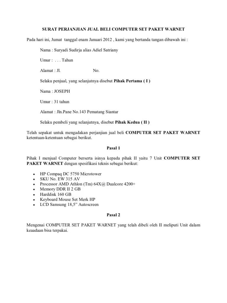 Surat Perjanjian Kredit Hp : surat, perjanjian, kredit, Contoh, Surat, Perjanjian, Secara, Kredit, Berbagi, Cute766