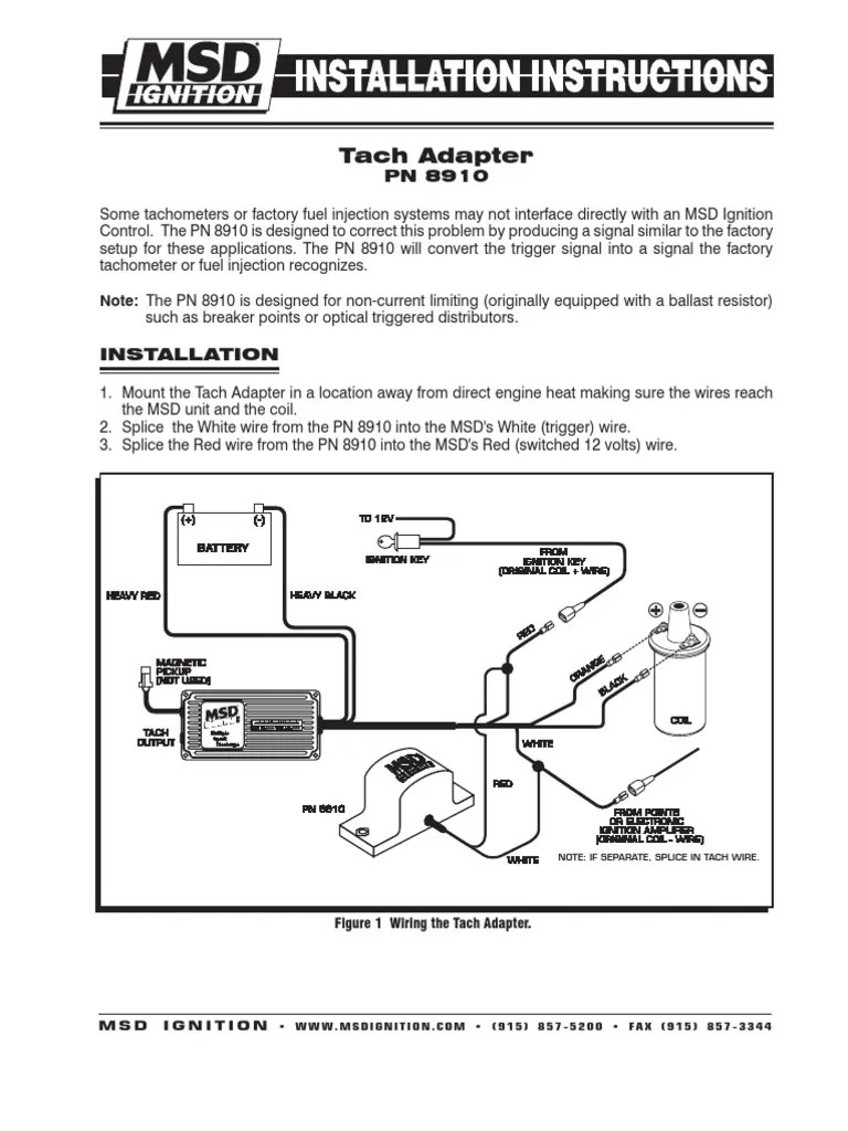 hight resolution of msd 8910 frm28850 ignition system electrical engineering msd 6al wiring diagram chevy msd 8910 wiring diagram