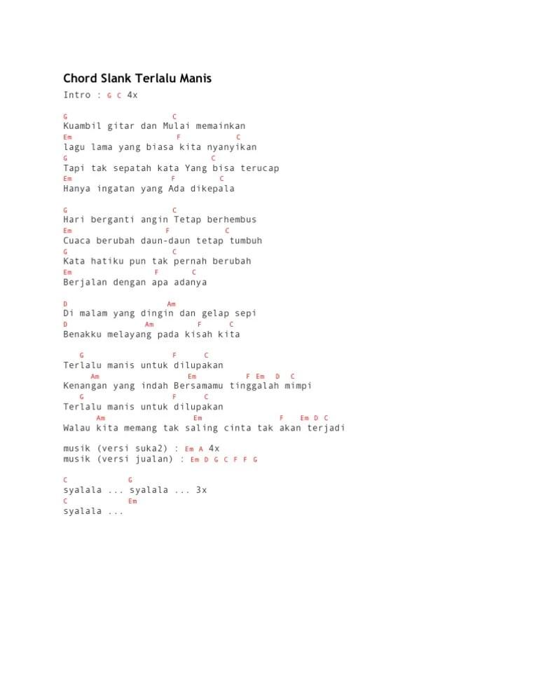 Slank Terlalu Manis Chord : slank, terlalu, manis, chord, Chord, Slank, Terlalu, Manis