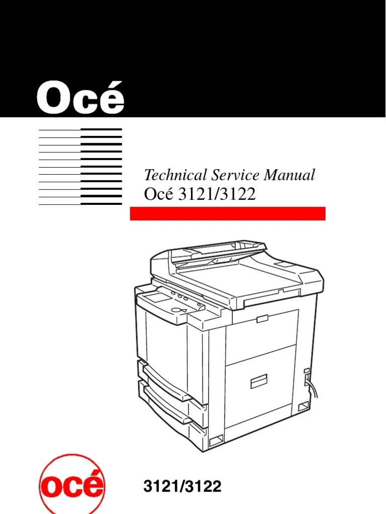 medium resolution of ro oce 3121 3122 service manual image scanner electrical connector