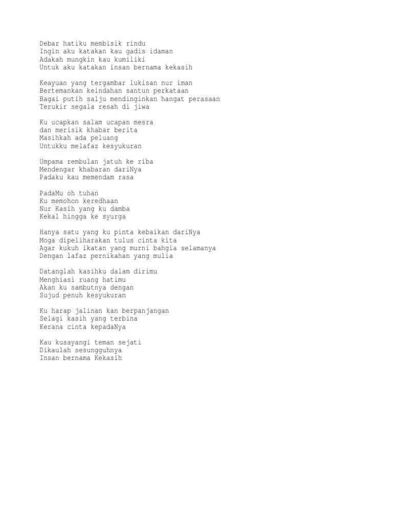 Chord Salju Kasih : chord, salju, kasih, Lirik, Insan, Bernama, Kekasih