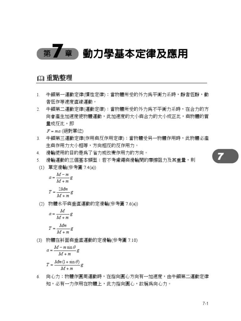 Ch7動力學基本定律及應用