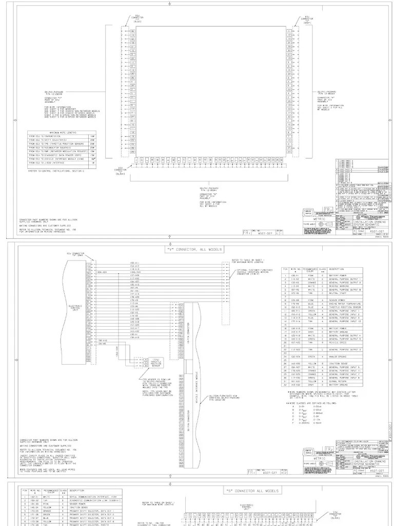 hight resolution of allison 3060 transmission wiring diagram