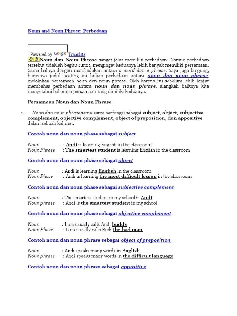 Contoh Noun Phrase : contoh, phrase, Phrase, Tipologi, Linguistik, Semantik