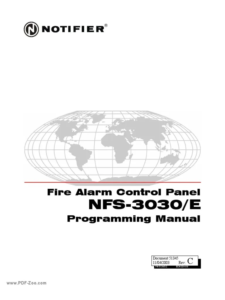 Notifier Fire Alarm Panel Nfs2-3030 Manual