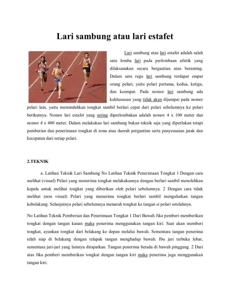 Start Dalam Lari Estafet : start, dalam, estafet, Sambung, Estafet