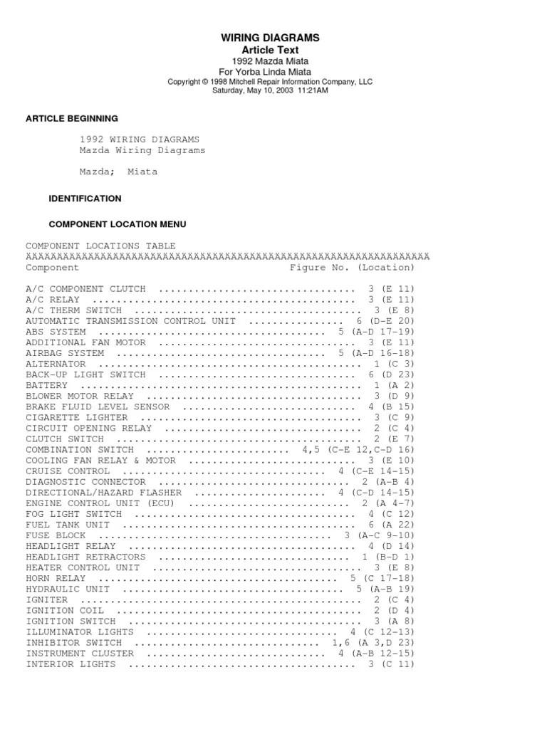 medium resolution of 1992 miatum fuel tank wiring diagram