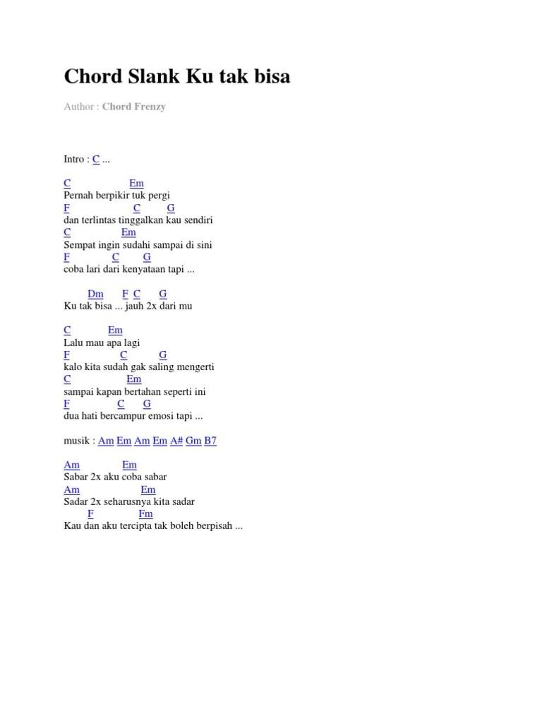Kunci Gitar Slank Ku Tak Bisa Jauh : kunci, gitar, slank, Slank, Chord