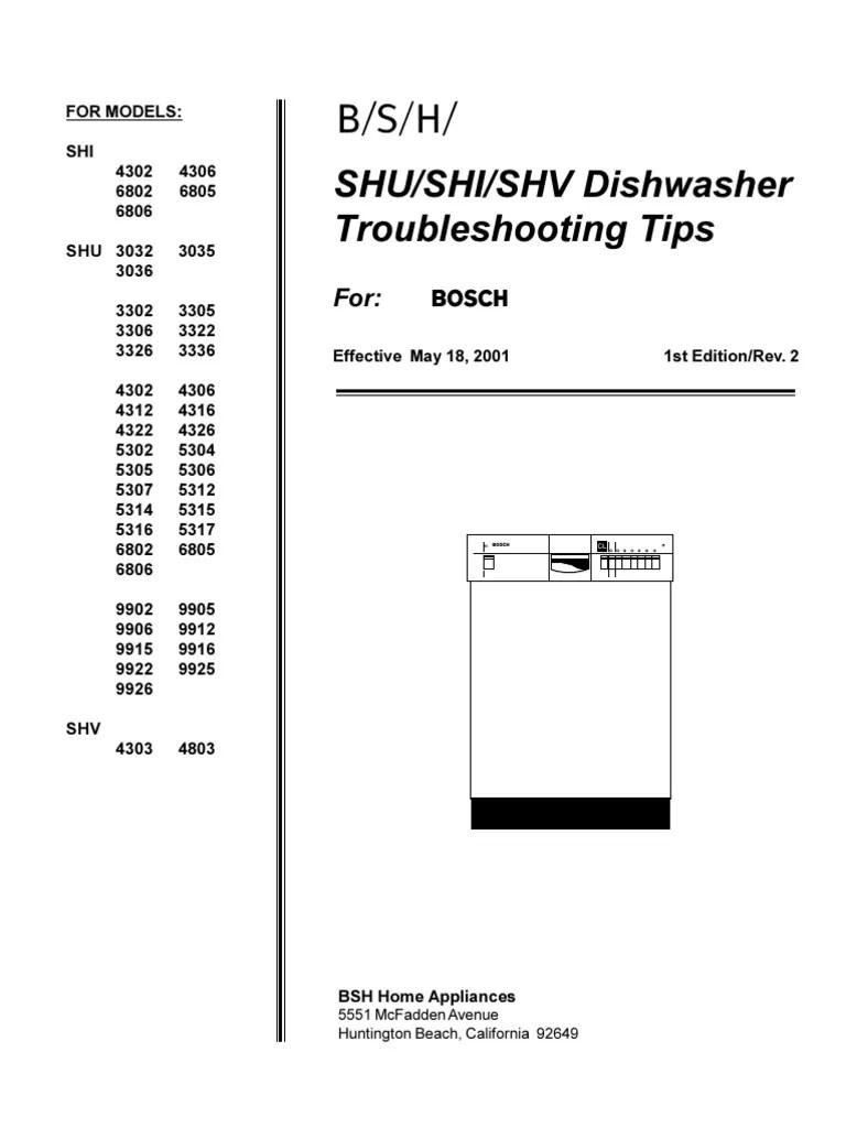 medium resolution of bosch she dishwasher troubleshooting dishwasher printed circuit board