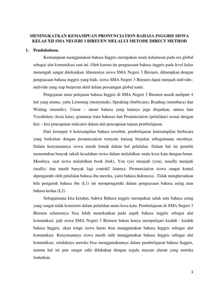 Contoh Proposal Ptk Bahasa Inggris Sma Kelas Xii Cute766