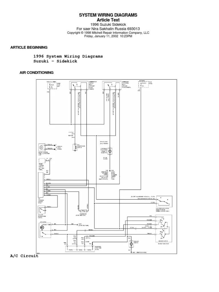 medium resolution of 95 suzuki sidekick wiring diagram motor vehicle manufacturers 1995 suzuki sidekick wiring diagrams 95 suzuki sidekick