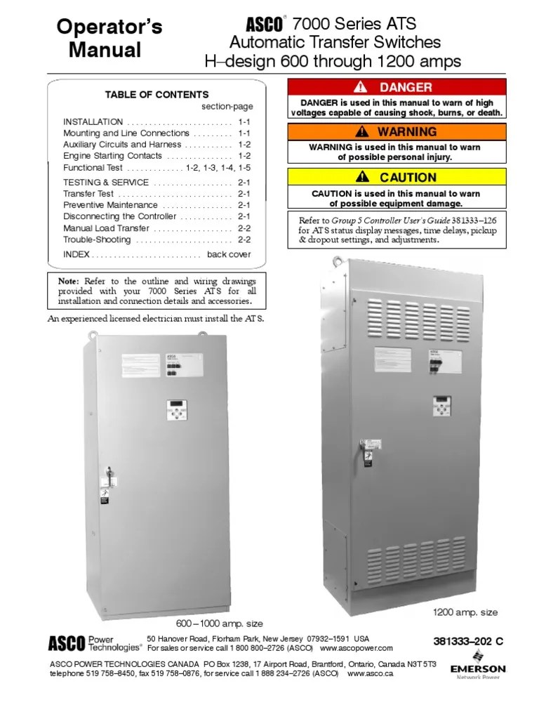 medium resolution of asco 7000 series operator manual 381333 202c switch electrical residential electrical wiring diagrams asco 7000 series operator