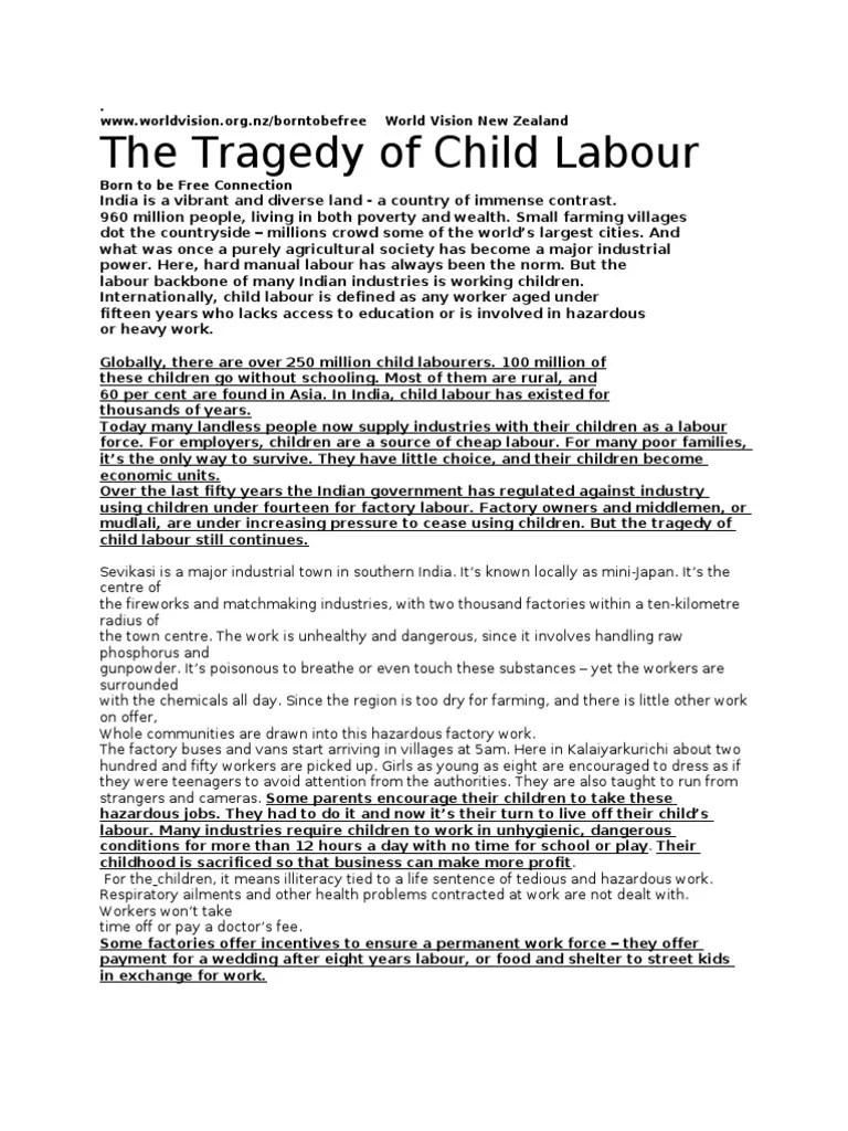 Child Labour Essays Essay About Child Labour Essay Child Labour