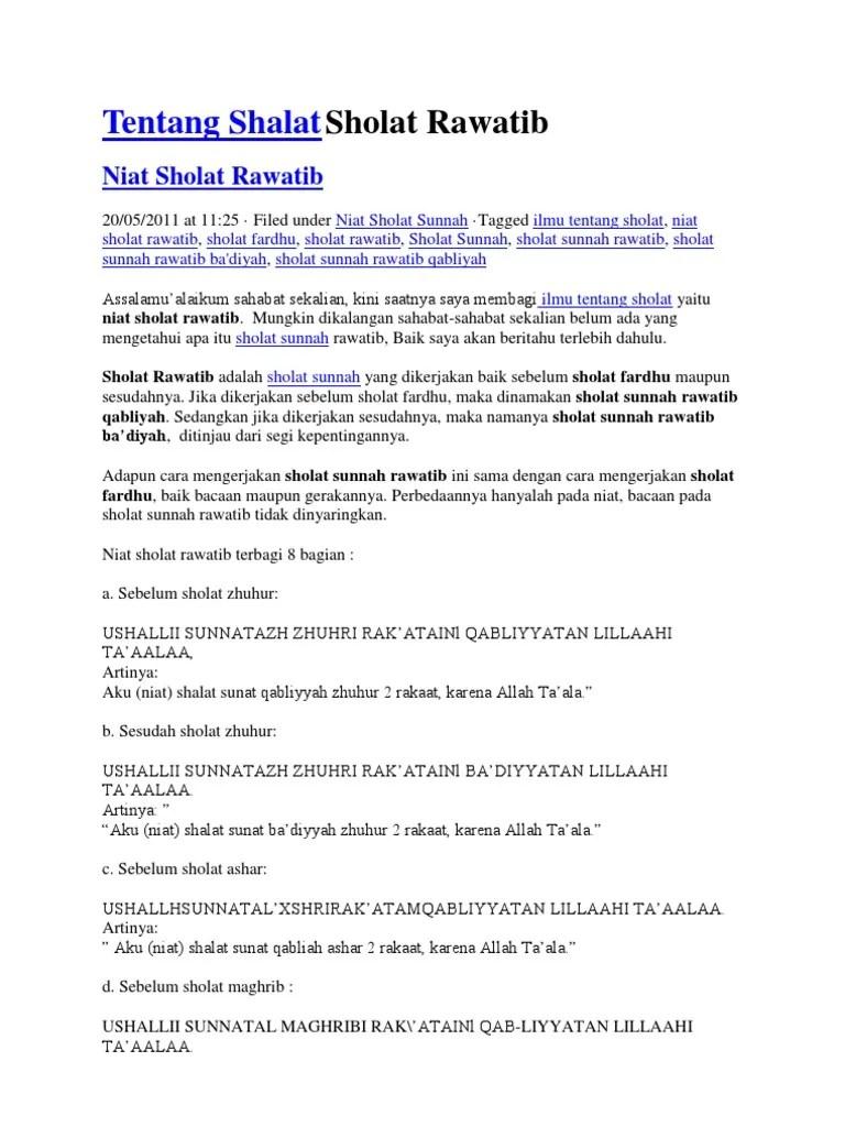 Apa Itu Sholat Rawatib : sholat, rawatib, Tentang, Shalat, Sholat, Rawatib