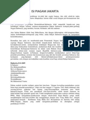 Sebutkan Isi Piagam Jakarta : sebutkan, piagam, jakarta, Perbedaan, Piagam, Jakarta, Dengan, Pembukaan