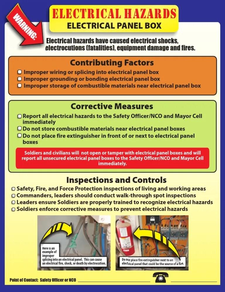 electrical panel hazards trailer lights wiring diagram uk safety box