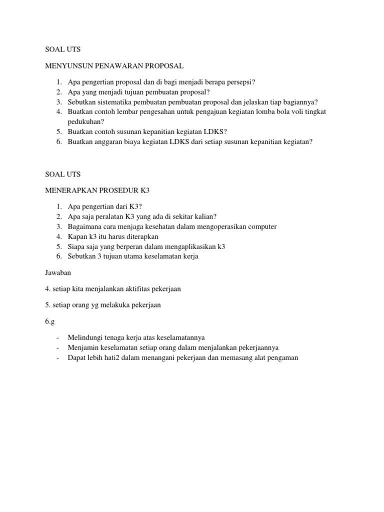 Contoh Soal Tentang Proposal Beserta Jawaban : contoh, tentang, proposal, beserta, jawaban, Penawaran, Proposal