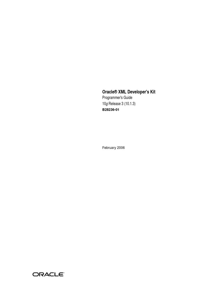 b28236_Oracle® XML Developer's Kit   Xml   Xml Schema