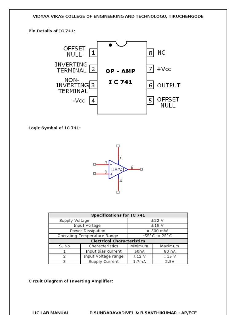 741 op amp circuit diagram [ 768 x 1024 Pixel ]