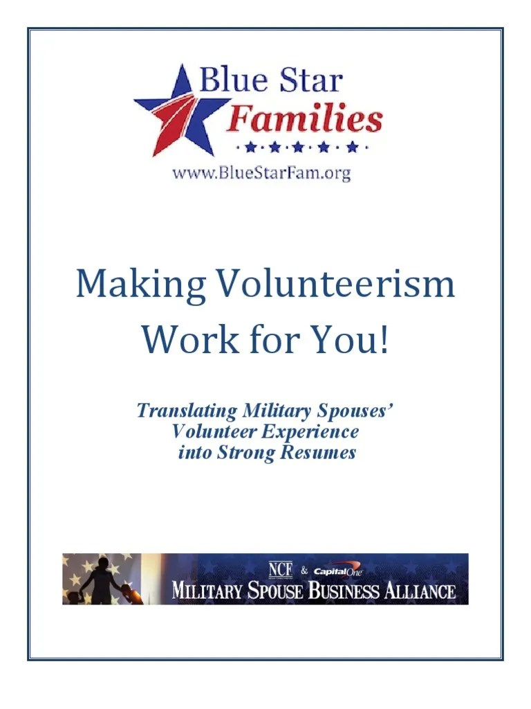 Usaa Resume Builder Making Volunteerism Work For You Resume Builder For Military