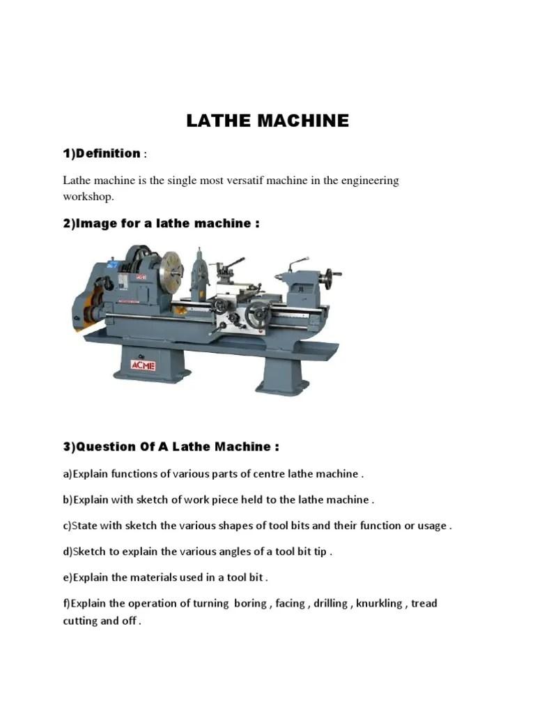 Lathe Machine Operations : lathe, machine, operations, Lathe, Machine, Metalworking, Industrial, Processes