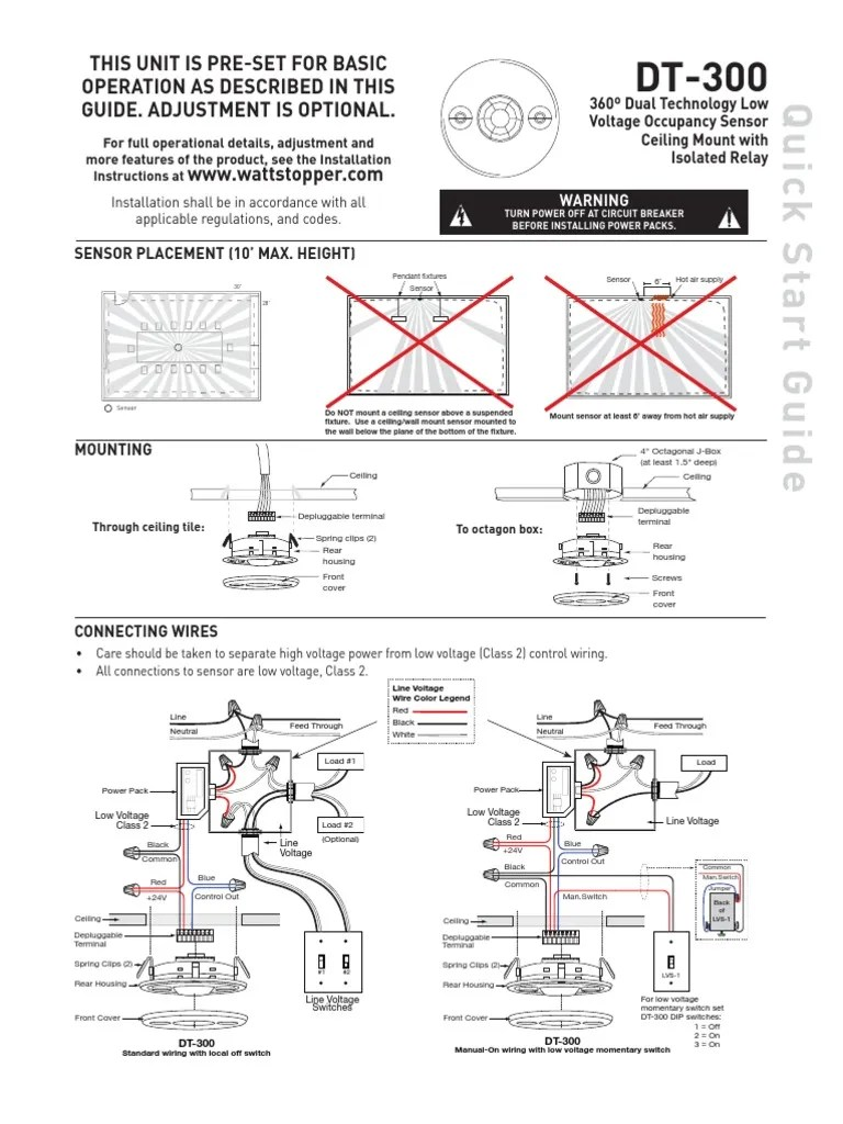 hight resolution of watt stopper occupancy sensor wiring diagram wiring library os ceiling model dt 300 wattstopper