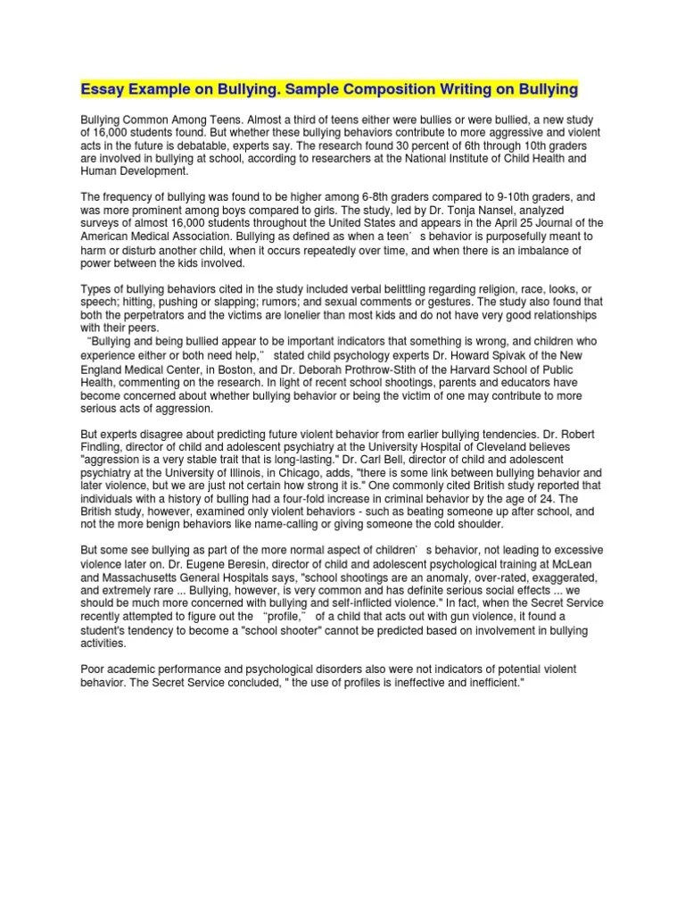 Essay About Bullying Research Paper On Cyber Bullying Writing