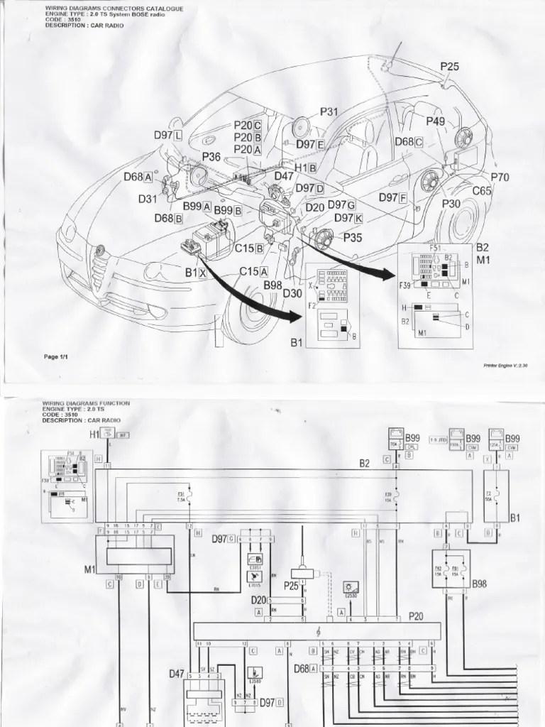 medium resolution of wiring diagram alfa romeo gta wiring diagram database alfa romeo mito radio wiring diagram alfa romeo bose wiring diagram