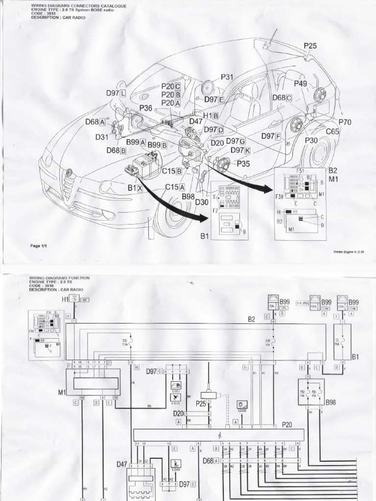 small resolution of bose wiring diagrams for alfa 147 rh scribd com alfa romeo 147 stereo wiring diagram alfa