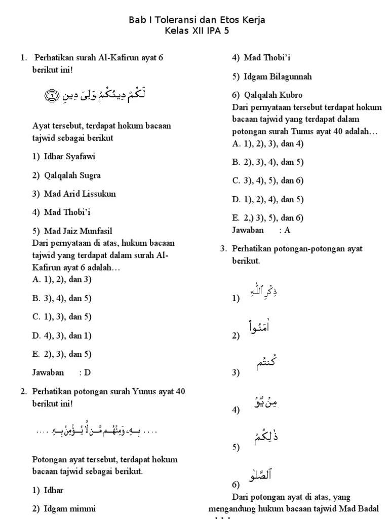 Tajwid Surah Al Kafirun : tajwid, surah, kafirun, Toleransi, Kerja