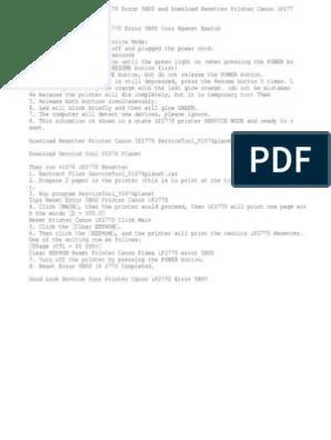 Cara Reset L120 : reset, Reset, Printer, (Computing), Manufactured, Goods