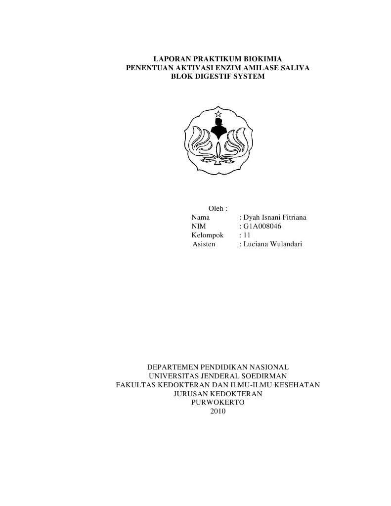Laporan Praktikum Enzim Amilase Pada Air Liur : laporan, praktikum, enzim, amilase, Laporan, Praktikum, Biokimia, Amilase, Saliva