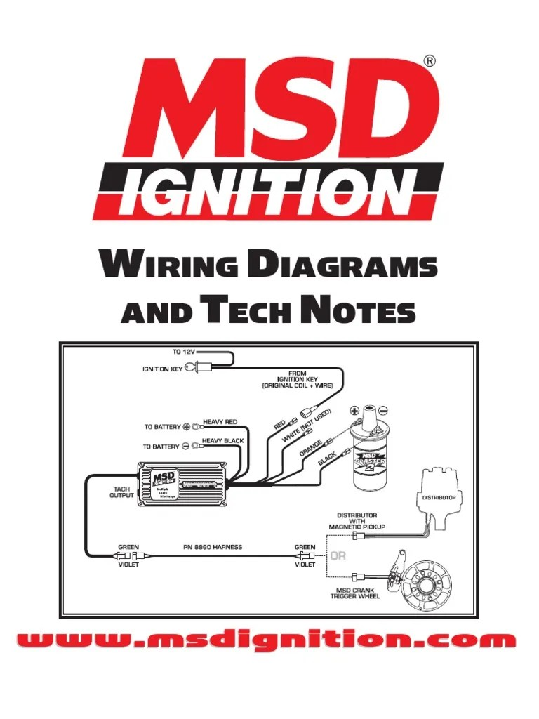 msd ignition wiring diagrams and tech notes distributor ignition blue yellow and orange wire distributor wiring diagram [ 768 x 1024 Pixel ]