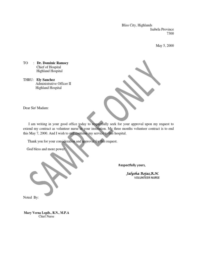 Contract Extension Letter Pdf