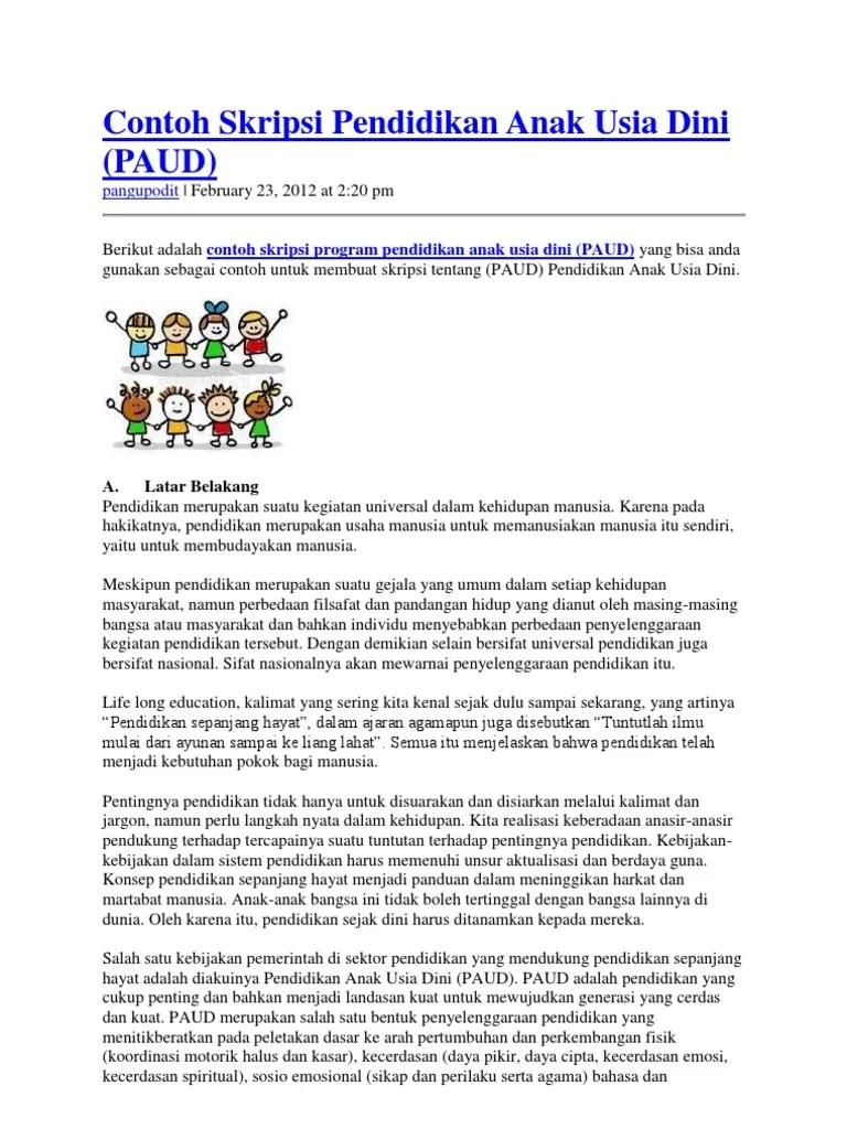 Contoh Judul Penelitian Kualitatif Pendidikan Anak Usia Dini Contoh 193 Cute766