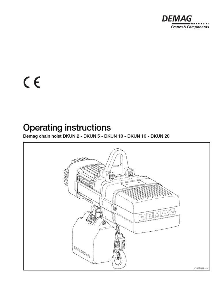 medium resolution of 3 4 ton chain hoist diagram