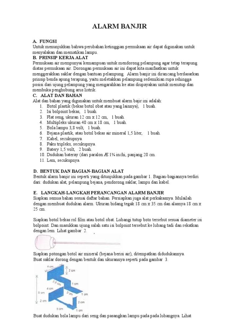 Cara Membuat Alarm Banjir : membuat, alarm, banjir, Alarm, Banjir