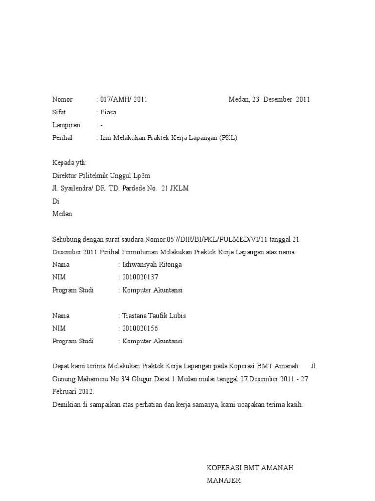 (DOC) Surat Balasan | Juhmatdri Juhmatdri - Academia.edu