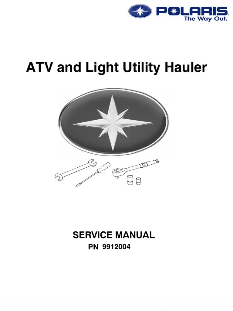 polaris atv service manual repair 1985 1995 all models transmission mechanics suspension vehicle  [ 768 x 1024 Pixel ]